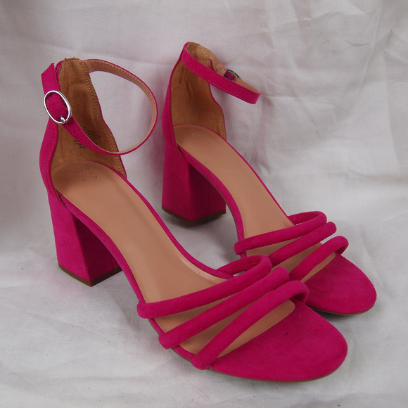 cb873f895d a new day Shoes | Fuschia Block Heel Ankle Strap Pumps Sz 11 | Poshmark